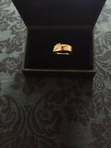 Antiker Ring Rotgold 585 2,5 gr Saphir England Grösse 56 /viktorian. Verlobung