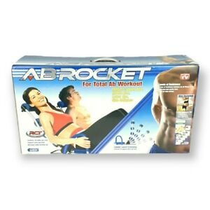 Original AB ROCKET Abdominal Trainer Core Strength Rocker Blue New In Box