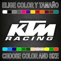 Vinilo adhesivo KTM RACING, pegatina, logo, adesivi, moto, sticker, decal.