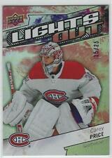 "RARE! CAREY PRICE 2018/19 UPPER DECK OVERTIME LIGHTS OUT ""RED"" #15/25"