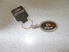 CHICAGO BLACKHAWKS 2015 STANLEY CUP CHAMPIONS 6-TIME METAL SPINNER KEYCHAIN