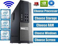DELL Quad Core i3 i5 i7 DESKTOP TOWER PC & LCD WIN10 &16GB 2TB OR 480GB SSD