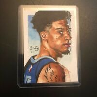 Brandon Clarke Grizzlies 1/1 drawn original art sketch card aceo Rookie RC