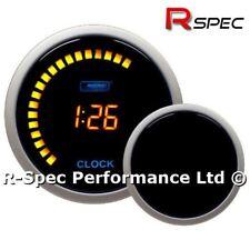 52mm Prosport Amber LCD 12v Digital Time Clock Gauge - 12H or 24H Display