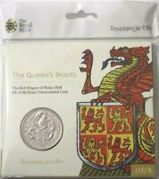 2018 Queens Beasts Dragon Of Wales BU £5 Five Pound Royal Mint Coin Pack