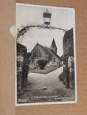 Postcard Slindon Church Sussex  Real photo RP Raphael Tuck card posted 1941.XC3