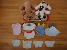 85 86 Vintage Tonka Pound Puppy Cloth Carrying House with Two Puppies & Clothes