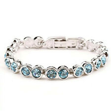 On Sale Luxury Wedding Bridal Sparkling Tennis Chain Bracelet Gift for Women