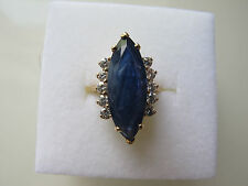 Ladies Sapphire  and Diamonds Ring size 7 Yellow Gold