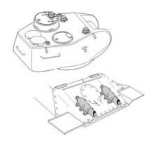 Echappements et périscopes pour T-34/85 1/72 CMK pour kit Revell