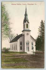 Wheatland Iowa~German Reform Church~Fence~Plush Green Lawn~1910 Postcard
