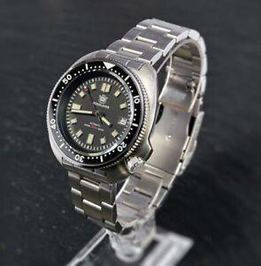 "STEELDIVE SD1970 ""CAPTAIN WILLARD"" 6105 Dive Watch *FREE EXTRA STRAP**UK SELLER*"