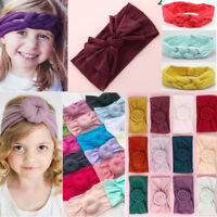 Baby Girls Kids Toddler Bow Hairband Headband Stretch Turban Knot Head Wraps Hot