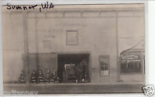 RPPC - Sumner, Washington - Billiard Room & Livery Barn - 1912