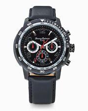 Tommy Bahama Mens Kailua Chronograph Watch Black Leather Strap TB00013-03
