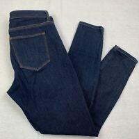Gap 1969 Womens 29 Regular True Skinny Ankle Jeans Blue Dark Rinse Denim Stretch