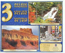 SURE-LOX® 3 Pack 500pc 750pc 1000pc DELUXE JIGSAW PUZZLES Assortment Box #11