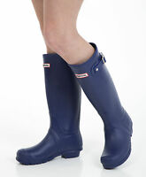 Women's Wellies - Ladies Navy Blue Wellington Boots - Size 6 UK - EU 39