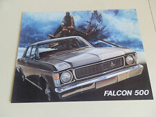 1969 XW FORD FALCON 500 BROCHURE PLUS MATCHING ''RARE'' COLOUR AND TRIM CHART