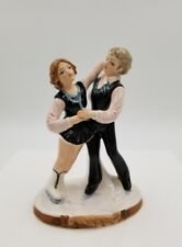 """Vintage 6"""" Boy Girl Competition Ice Skaters Figurine By Schmid *Marked"""