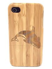 iPhone 5c Bamboo Wood Case ( Killer Whale Engraving ) 100% Genuine Wood✔️