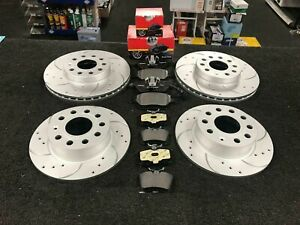 For Mini Cooper S R53 Front Rear Drilled Grooved Brake Discs & Mintex Brake Pads