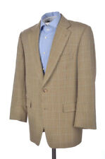 Burberry Brown Beige Houndstooth Check 100% Wool Blazer Sport Coat Jacket - 42 R