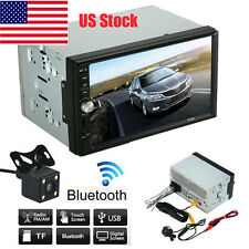 "7"" Double 2DIN HD Car MP5 MP3 Player Bluetooth Touch Screen Stereo Radio+ Camera"