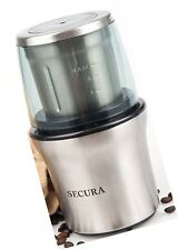 Secura Electric Coffee Grinder & Spice Grinder with 2 Stainless-Steel Blades ...