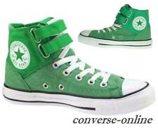 Womens Boys CONVERSE All Star 2 STRAP DENIM HI TOP GREEN Trainers Boot UK SIZE 5