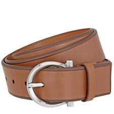 Ferragamo Hickory Leather Gancio Belt - Size 42