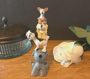 Cute Dog Lovers Pyramid Figurine Ornament Plaque Sign Table Desk Gift Chihuahua