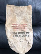 Vintage Federal Reserve Bank Of San Francisco  Cash Deposit Bag