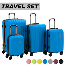 770b1aefbb2e Luggage Travel Set Bag ABS Trolley 360° Spinner Carry On Suitcase with Lock