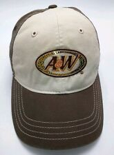 A&W brown / beige adjustable cap / hat - 100% cotton