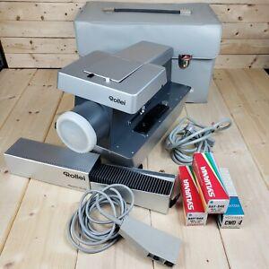 Rare Rollei P11.0 6x6 Slide Projector 150mm Lens 110vac Germany Franke Heidecke