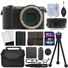 Sony Alpha a5100 Mirrorless Digital Camera with 16-50mm Lens Black + 16GB Kit