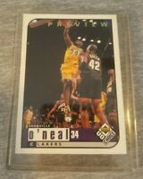 1998 Upper Deck Choice Preview #68 Shaquille O'Neal Los Angeles Lakers Card