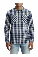 True Religion Men's Hype TR Utility Front Button Long Sleeve Shirt in Indigo Sky
