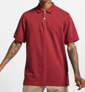 The Nike Polo Mens Small Authentic Short Sleeve Dri Fit Cotton Collared Gym Red