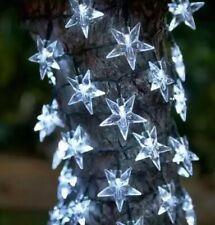 GIARDINO solare LED Stelle Stringa Luci 40 STELLE PER GAZEBO PATIO treetrunk