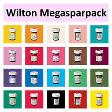 Wilton Icing Colors Lebensmittelfarbe 20x Gelfarben Megasparpack für Fondant TOP