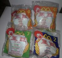 McDonald's, 1999 Winnie The Pooh Happy Meal Plush Clip Key Chains Lot Of 4 NIP