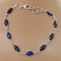 Lapis Lazuli Armband Silber 925 Sterlingsilber Tennisarmband Armkette Damen t