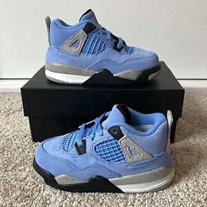 Jordan 4 Retro University Blue TD Toddler 8C Brand New