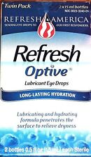 Refresh { Optive }  Eye Drops 0.5 fl oz bottles (15 mL) (Twin-Pack) EXP: 6/2020