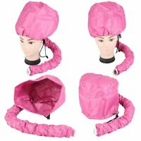 Hair Drying Styling Soft Cap Bonnet Hood Hat Blow Hair Dryer Attachment - Pink