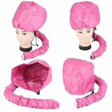 Hair Drying Styling Soft Cap Bonnet Hood Hat Blow Hair Dryer Attachment - Pink