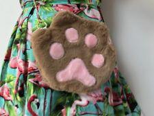 Sac à main original patte de chat marron kitty cat peluche plush pinup rétro