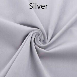 Silver Plush Plain FIRE RETARDANT Velvet Upholstery / Curtain Fabric
